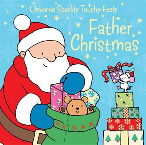 9780746089231: Usborne Sparkly Touchy-Feely: Father Christmas