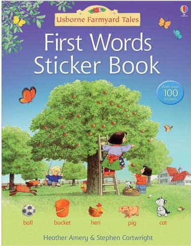First Words Sticker Book (0746093608) by Stephen Cartwright Heather Amery