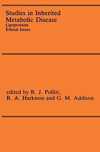 9780746201015: Studies in Inherited Metabolic Disease: Lipoproteins Ethical Issues