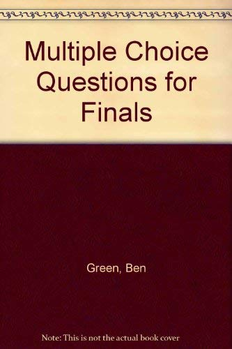 Green: mcq's for finals: Green, B.