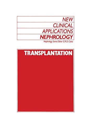 9780746201169: Transplantation (New Clinical Applications: Nephrology)