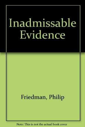 9780747208020: Inadmissible Evidence