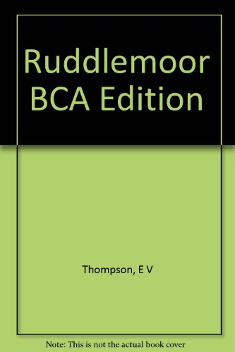 9780747225232: Ruddlemoor BCA Edition
