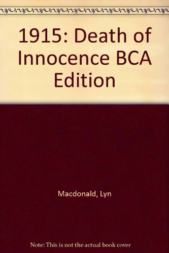 9780747226703: 1915: Death of Innocence BCA Edition