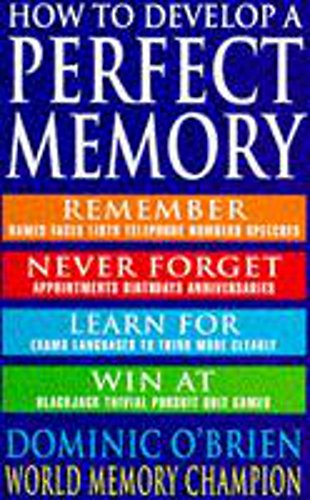 9780747245179: How to Develop a Perfect Memory