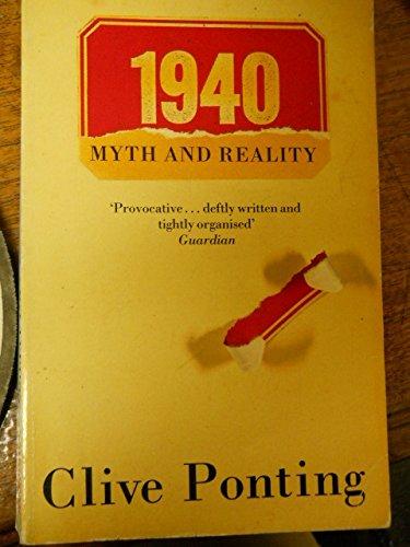 9780747407287: 1940 Myth and Reality