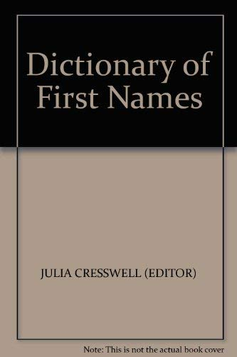 9780747504597: Dictionary of First Names