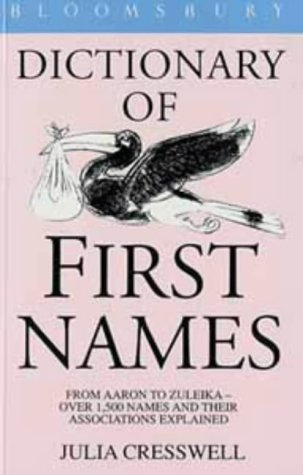 9780747512233: Bloomsbury Dictionary of First Names