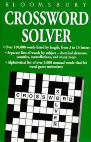 9780747524908: Bloomsbury Crossword Solver