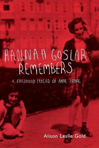 9780747540267: Hannah Goslar Remembers