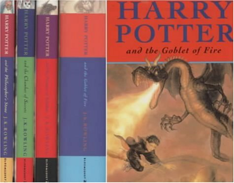 """9780747553625: Harry Potter Box Set: Includes """"Harry Potter and the Philosopher's Stone"""", """"Harry Potter and the Chamber of Secrets"""", """"Harry Potter and the Prisoner ... and """"Harry Potter and the Goblet of Fire"""""""