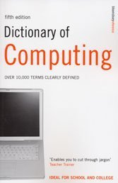 9780747566229: Dictionary of Computing: Over 10,000 Terms Clearly Defined