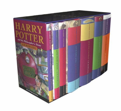 9780747593690: The Complete Harry Potter Collection. Boxed Set. 7 Volumes. Contains: Philosopher's Stone / Chamber of Secrets / Prisoner of Azkaban / Goblet of Fire ... Prince / Deathly Hallows (Harry Potter)