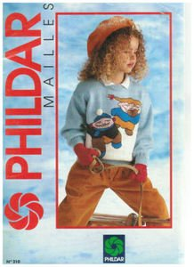 9780748021222: PHILDAR MAILLES KNITTING BOOK ENGLISH #210 16 CHILDRENS DESIGNS SZ 2-14 Y