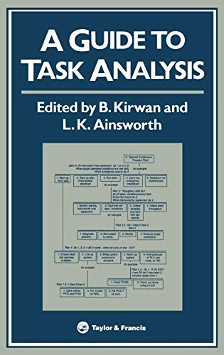 A Guide To Task Analysis: The Task Analysis Working Group: CRC Press