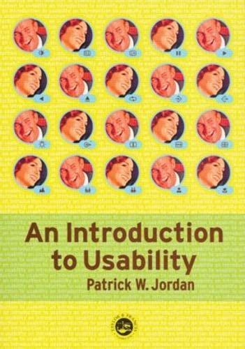 An Introduction To Usability: Patrick W. Jordan