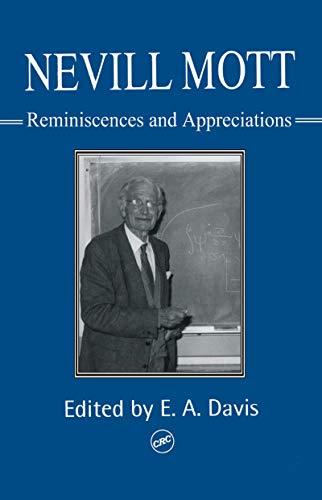 9780748407903: Nevill Mott: Reminiscences And Appreciations