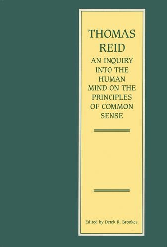 An Inquiry into the Human Mind: On the Principles of Common Sense: Reid, Thomas