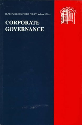 Corporate Governance (The Hume Papers on Public Policy): David Hume Institute, Professor