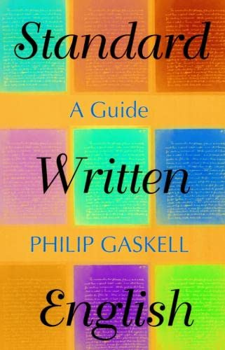 9780748611362: Standard Written English: A Guide
