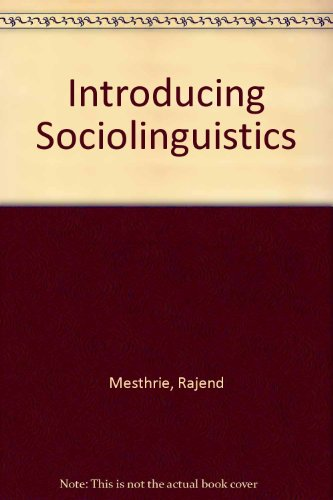 9780748611935: Introducing Sociolinguistics
