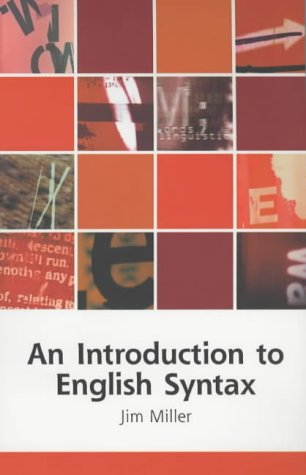 9780748612543: An Introduction to English Syntax (Edinburgh Textbooks on the English Language)