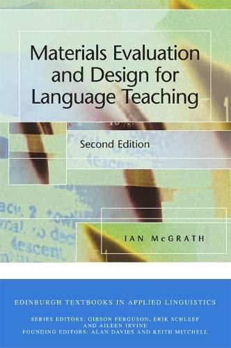 9780748613304: Materials Evaluation and Design for Language Teaching (Edinburgh Textbooks in Applied Linguistics)