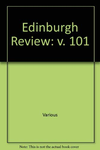 9780748613731: Edinburgh Review: v. 101