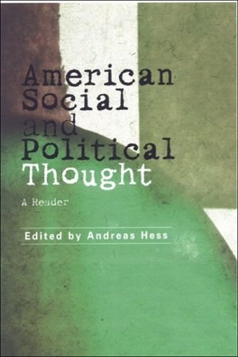 9780748615292: American Social and Political Thought: A Reader