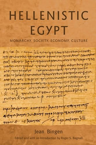 9780748615797: Hellenistic Egypt: Monarchy, Society, Economy, Culture