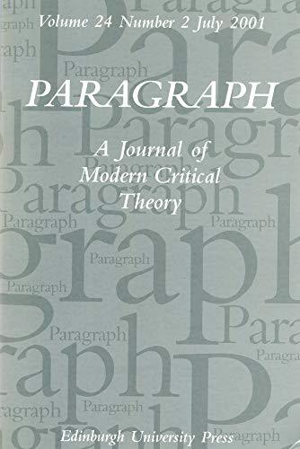 Paragraph Volume 24 2: Wright