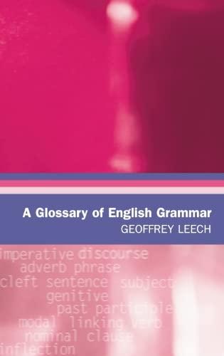 A Glossary of English Grammar