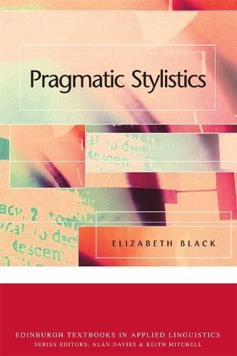 9780748620418: Pragmatic Stylistics