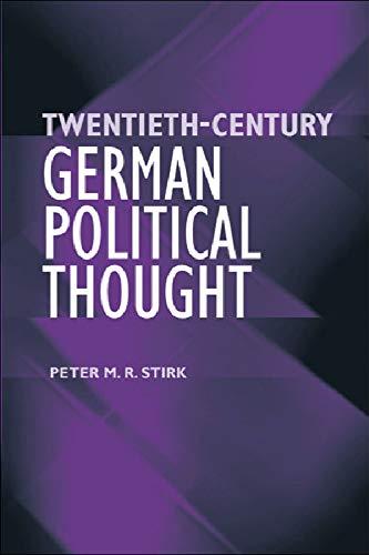 9780748622917: Twentieth-Century German Political Thought
