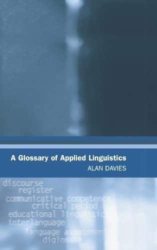 9780748622948: A Glossary of Applied Linguistics