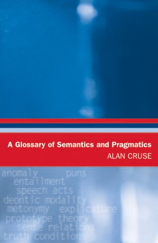 9780748624058: A Glossary of Semantics and Pragmatics (Glossaries in Linguistics)