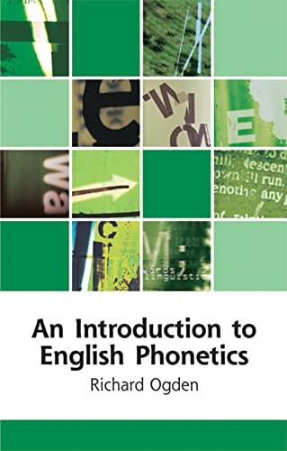 9780748625406: An Introduction to English Phonetics (Edinburgh Textbooks on the English Language)