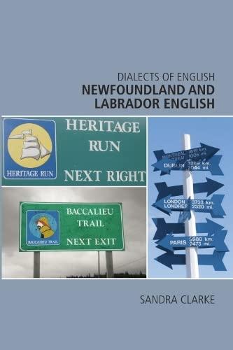 9780748626175: Newfoundland and Labrador English (Dialects of English EUP)