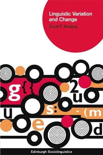 9780748637621: Linguistic Variation and Change (Edinburgh Sociolinguistics)