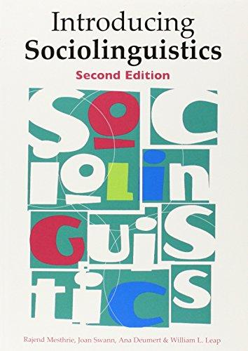 9780748638444: Introducing Sociolinguistics