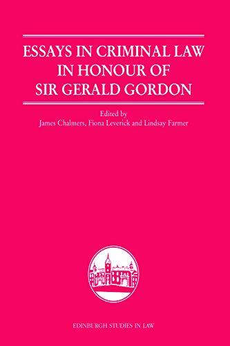 Essays In Criminal Law In Honour Of: Farmer, Lindsay (edt);
