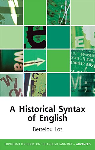 9780748641437: A Historical Syntax of English (Edinburgh Textbooks on the English Language - Advanced)