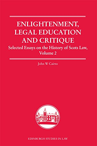9780748682133: Enlightenment, Legal Education, and Critique: Selected Essays on the History of Scots Law, Volume 2 (Edinburgh Studies in Law Eup)