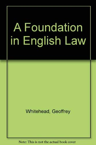 9780748713677: A Foundation in English Law