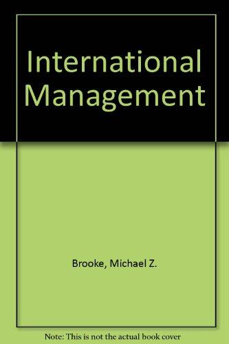 9780748713707: International Management