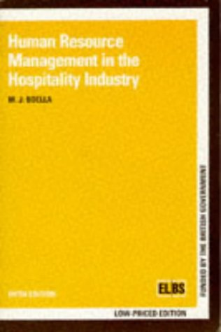9780748715725: Human Resource Management in the Hospitality Industry
