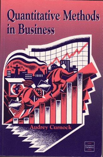 9780748720835: Quantitative Methods in Business