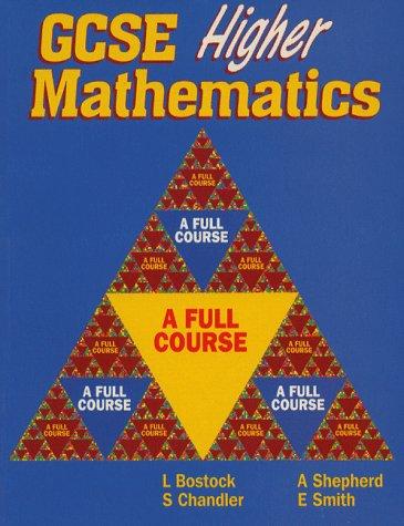 9780748726479: GCSE Higher Mathematics: A Full Course