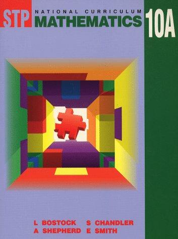 9780748731909: STP National Curriculum Mathematics: Bk. 10A