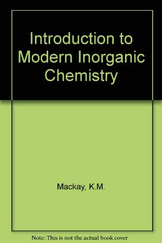 9780748739837: Introduction To Modern Inorganic Chemistry 5th Edition